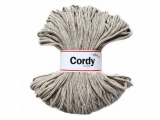 Cordy 5mm TWEED ekr kapučíno hnědá